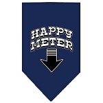 Happy Meter Screen Print Bandana Navy Blue Small